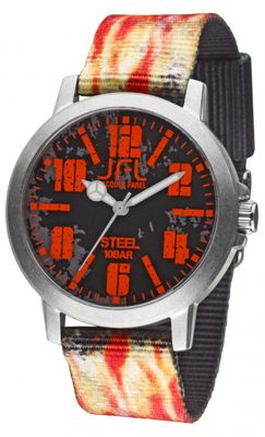 JFL by Jacques Farel Jugend-Uhr Hipster-Style Flame CRS 003