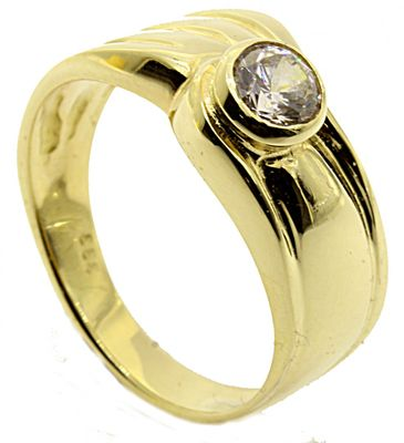 Damen Ring echt Gold 333 Zirkonia Gr. 54
