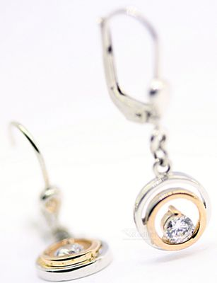 Schmuck Damen Ohrringe echt Sterling Silber 925 rosé Zirkonia 19191