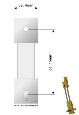 Pendelfeder für Pendulen, Großuhr, Regulator 15mm Stiftabstand 410430