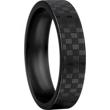 BERING Stapelring Keramik Carbon-Look schwarz breit Arctic Symphony Collection 550-61-X2