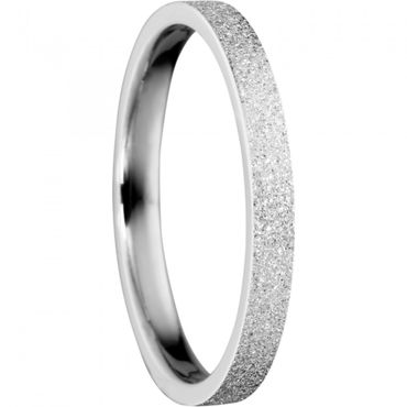 BERING Stapelring Edelstahl Sparkling effect silber schmal Arctic Symphony Collection 557-19-X1
