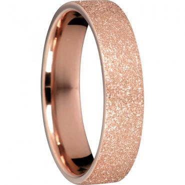 BERING Stapelring Edelstahl Sparkling effect rosé vergoldet breit Arctic Symphony Collection 557-39-X2