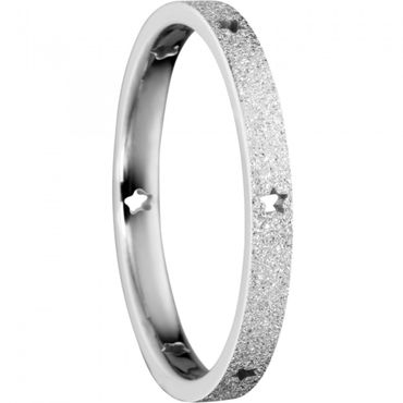 BERING Stapelring Edelstahl Sparkling effect Sternchen silber schmal Arctic Symphony Collection 559-19-X1