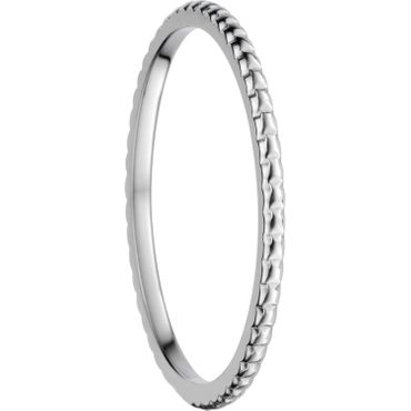 BERING Stapelring Edelstahl Bubble-Muster silber ultra schmal Arctic Symphony Collection 562-10-X0