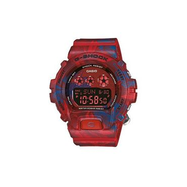 "Casio G-Shock Uhr rot-blau ""Hawaii-Hemd Look"" GMD-S6900F-4ER"