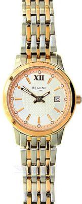 Regent Damenuhr bicolor rosé klassisch mit Edelstahlband 7916.41.90