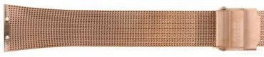 Uhrenarmband für Skagen 380XSRR Edelstahl PVD rosé Mesh Milanaise Ersatzband