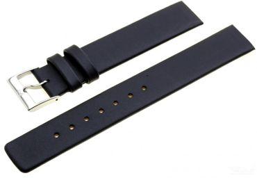 Uhrenarmband für Skagen 359USLB Leder schwarz 18mm Federsteg