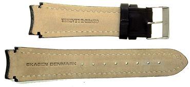 Uhrenarmband für Skagen 755XLSLC Leder schwarz Ersatzband 755XL