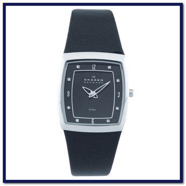 Uhrenarmband für Skagen 380SSLBB Leder Ersatzband