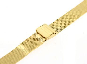 Uhrenarmband für Skagen 224LGG Milanaise Mesh Edelstahl PVD gold Ersatzband