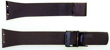 Uhrenarmband für Skagen 523XSDD Edelstahl PVD braun Milanaise Ersatzband 20 mm