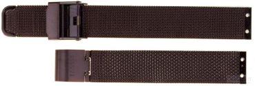 Uhrenarmband für Skagen 358S 355S Mesh Edelstahl PVD braun Ersatzband 14 mm