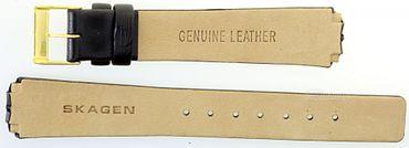 Uhrenarmband für Skagen 433SGLB Leder Federstegbefestigung Ersatzband