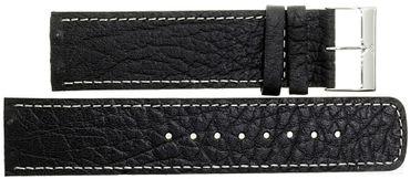 Uhrenarmband für Skagen 224LSLB Leder schwarz 22 mm Ersatzband