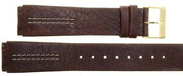 Uhrenarmband für Skagen 433LGL1 (Schraubansatz) Leder braun Ersatzband