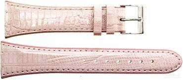 Uhrenarmband für Skagen 384SSLP8A Leder rosa Ersatzband