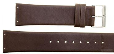 Uhrenarmband für Skagen 355XLGLD Leder braun Ersatzband