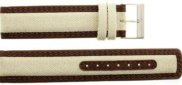 Uhrenarmband für Skagen 415LSFT  Leder Textil 18mm  Ersatzband