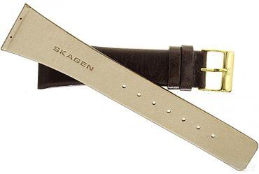 Uhrenarmband für Skagen 563XSGLD Leder braun 22mm Ersatzband