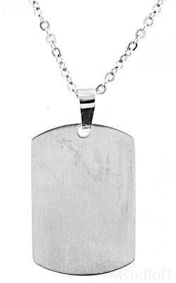 Kette mit Gravuranhänger Edelstahl Set 50cm