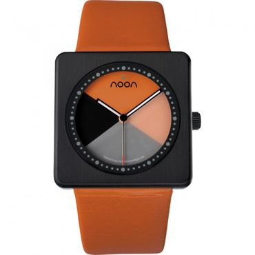 noon copenhagen Armbanduhr Design Kollektion orange-schwarz 18-005