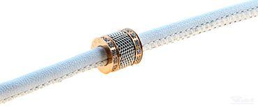 BERING Armband mit Charm-Kombination Leder weiß Edelstahl bicolor asc-charm12