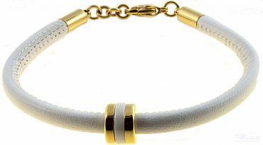 BERING Armband mit Charm-Kombination Leder weiß Edelstahl Keramik asc-charm43