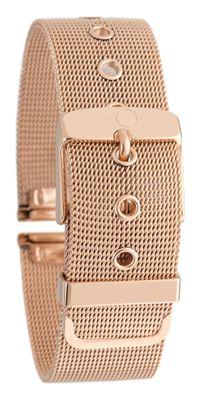 Milanaise Uhrenarmband Edelstahl Mesh rosé-vergoldet mit Dornschließe