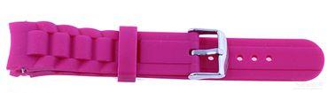 Silikonband für Uhren 20mm, lila Ersatzband
