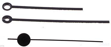 Zeiger für Funkuhrwerk Balken 80mm Rundloch