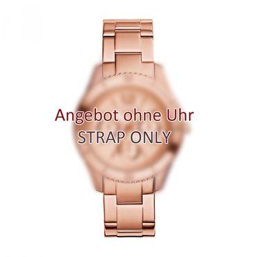 Fossil Uhrenarmband für ES3815 Ersatzband Edelstahl rosé