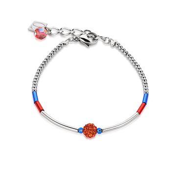 Coeur de Lion Armband blau-rot 4878/30-0703
