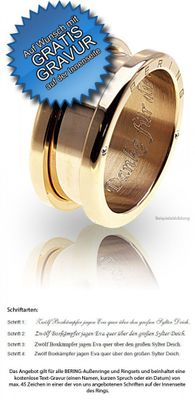 Bering Außenring schmal matt vergoldet für Arctic Symphony Collection 520-21-X3