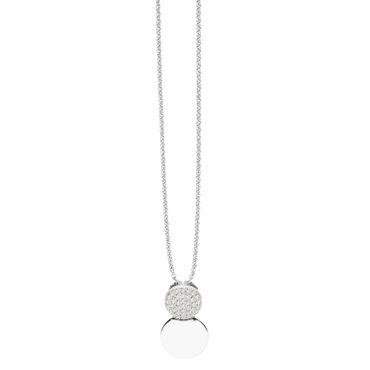 Kette mit Anhänger für Damen Modern Simplicity echt 925 Silber ST1381