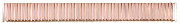 Zugband für Uhren Flex-Band Edelstahl rosé poliert