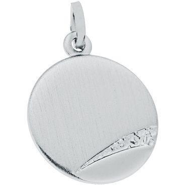 Kettenanhänger Gravurplatte Sterling Silber inkl. Gravur 59-021013