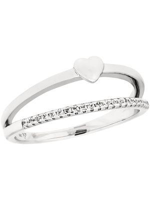 Damenring echt Silber mit Steinchen 69-787207