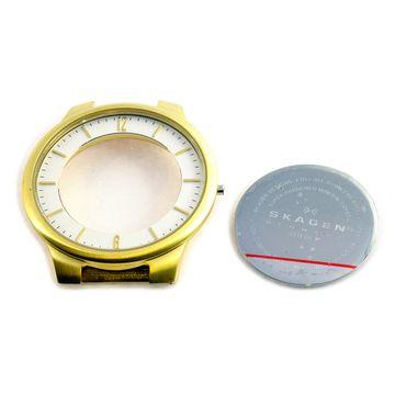 Original Case Uhrengehäuse Zifferblattring Glas Boden für Skagen 331LGL1