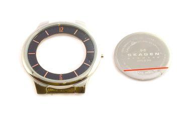 Original Case Uhrengehäuse Zifferblattring Glas Boden für Skagen 331LSLBO