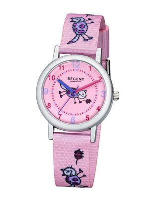 Regent Kinderuhr Katze rosa F-1132