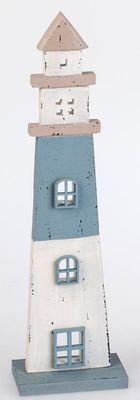 Leuchtturm aus Holz 30cm Handgefertigt