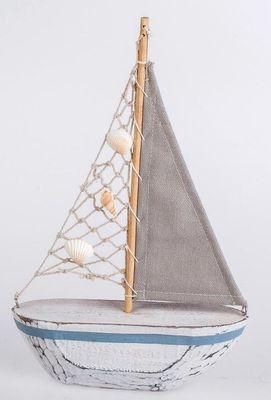 Deko Segelboot 28cm Modell aus Holz