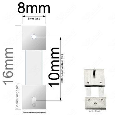Pendelfeder für Standuhr, Großuhr Regulator 10mm Stiftabstand