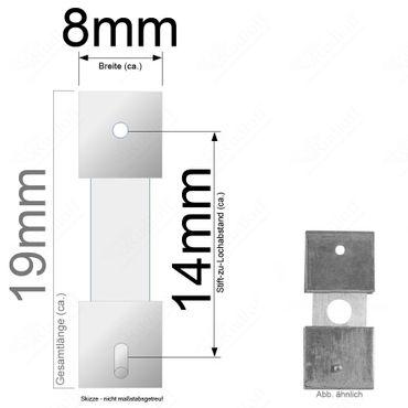 Pendelfeder für Standuhr, Großuhr Regulator 14mm Stiftabstand