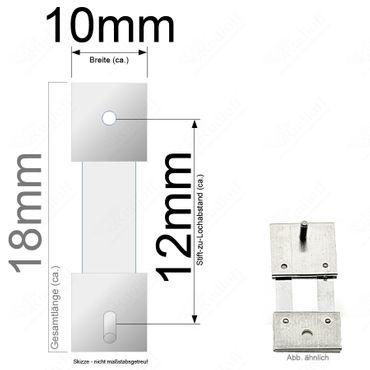 Pendelfeder für Standuhr, Großuhr Regulator 12mm Stiftabstand