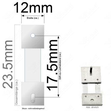 Pendelfeder für Standuhr, Großuhr Regulator 17,5mm Stiftabstand