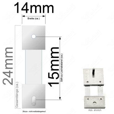 Pendelfeder für Standuhr, Großuhr Regulator 15mm Stiftabstand