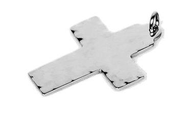 Ketten-Anhänger Kreuz Gravurplatte Edelstahl inkl Gravur